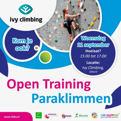 Open training paraklimmen